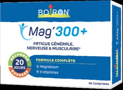 Magnésium 300+ devient Mag'300+ de Boiron, Complément alimentaire