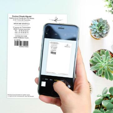 Prenez en photo votre ordonnance ou scannez-là